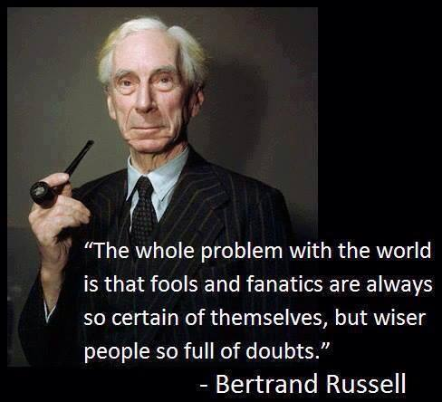 Bertrand Russell (1872 - 1970) philosopher, logician, mathematician, historian, and social critic.