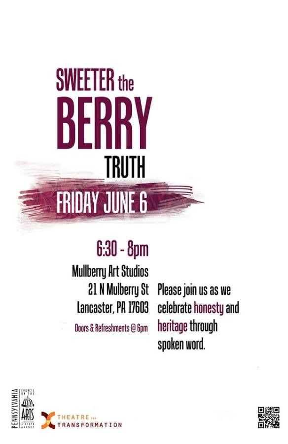 The Sweeter the Berry Showcase 6/6/14 @6 Mulberry Art Studio Lancaster Pa